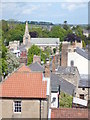 NU2406 : The church and town of Warkworth viewed from the keep of Warkworth Castle by pam fray
