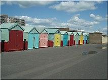 TQ2704 : Beach Huts - Hove by Paul Gillett