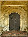 SP3725 : The Parish Church of St Kenelm's, Enstone, Doorway by Alexander P Kapp