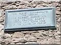 Photo of Robert Burns and Walter Scott bronze plaque
