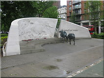 TQ2780 : Animals In War Memorial - Park Lane by Peter Whatley