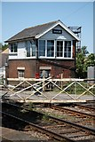 SK8975 : Saxilby signal box by Richard Croft