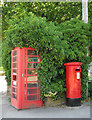 TG3104 : K6 Telephone box and ERII postbox by Evelyn Simak