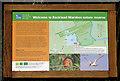 TG3304 : Rockland Bird Hide - information board by Evelyn Simak