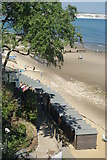 SZ5881 : Shanklin Chine - Beach Huts by Peter Trimming