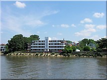 TQ1977 : Hartington Court, Chiswick, from the Thames Path, Kew by Chris Reynolds