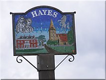 TQ4066 : Hayes Village Sign by Gordon Griffiths