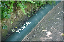 SZ5881 : Shanklin Chine - P.L.U.T.O. Pipeline by Peter Trimming