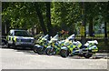 NT2674 : Police motorcycles, Holyrood Palace by kim traynor