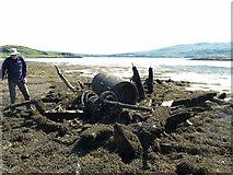 NR5582 : Wreck on the beach at Sailean a' Gharbh-uisge by Nick Wilson
