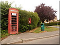 SY6892 : Charminster: postbox № DT2 178 and phone, East Hill by Chris Downer