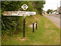 SY6792 : Charminster: old Dorset finger-post by Chris Downer