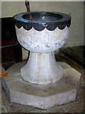 SU8014 : Font, St Peter's Church, East Marden by Maigheach-gheal