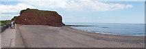 SX9777 : Dawlish Warren : South West Coast Path, Shingle Beach & Langstone Rock by Lewis Clarke