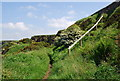 NX9515 : Footpath junction, old disused quarry by N Chadwick
