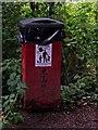 SO8577 : Dog waste bin (giant size) in Hurcott Wood by P L Chadwick