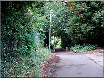 TM1543 : Public footpath at the end of Oak Hill Lane by Oxymoron