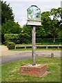 TL3344 : Bassingbourn village sign by Mike W Hallett