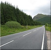 NN2327 : Looking along the A82 by James Denham