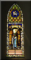 TG2202 : The church of St Remigius - stained glass window by Evelyn Simak