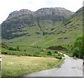 NN1256 : The old Glencoe road heads through the mountains by James Denham