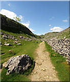 SD8964 : The Pennine Way north of Malham Cove by Andy Beecroft
