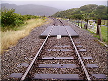 SH6214 : Looking north from Morfa Mawddach station by Kenneth Yarham