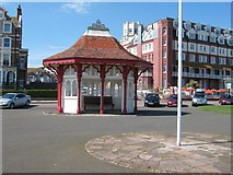 TQ7407 : Seafront shelter by Terry Head