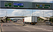 TQ2387 : North Circular Road, Brent Cross by Martin Addison