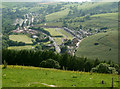 SS9388 : A view over Lewistown and farmland in the Ogmore Valley by eswales