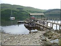 NN6135 : Pier at Milton Morenish - Loch Tay by Simon Johnston