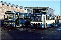 SU1585 : Swindon Bus Garage by Martin Addison