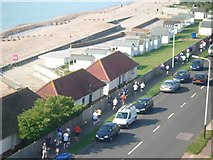 TQ7306 : Beach huts on West Parade by susan collins