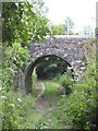 SW7739 : Bridge over footpath at Perranwell by Rod Allday