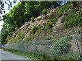 NY7263 : Rock Fall Fence protecting road near Whitchester by Simon Johnston