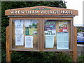 TM4982 : Wrentham Village Notice Board by Adrian Cable
