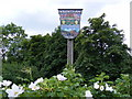 TM4982 : Wrentham Village Sign by Adrian Cable