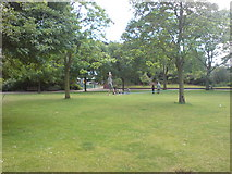 TQ3580 : Tightrope Walker in King Edward Memorial Park, Shadwell by Danny P Robinson