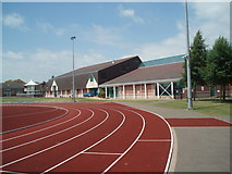 TQ4209 : Lewes Leisure Centre Sports Field by Paul Gillett