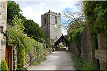 SD9772 : St Mary's Church and Lych Gate Kettlewell by SMJ