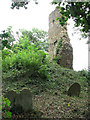 TM1685 : The ruined church of St Mary - the collapsed tower by Evelyn Simak