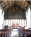 TM1687 : St Margaret's church - tympanum and rood screen by Evelyn Simak
