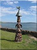 NO4102 : Garden statue in Lower Largo by M J Richardson