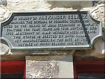 NO4202 : Plaque in memory of Alexander Selkirk by M J Richardson