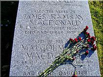 NJ2265 : Inscription for J Ramsay MacDonald by Ann Harrison