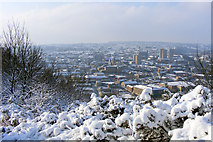 SE0925 : Halifax town centre from Beacon Hill by Phil Champion