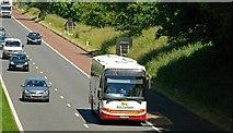 J2966 : Motorway coach near Dunmurry by Albert Bridge