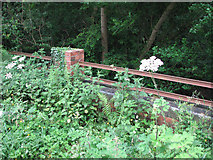 SK9202 : Pilton Quarry Railway: bridge parapet on the Luffenham road by John Sutton