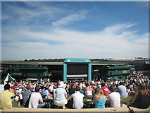 TQ2472 : No.1 Court and the big screen at Wimbledon 2009 by Rod Allday