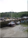NO8785 : A catamaran in the Middle Harbour, Stonehaven by Stanley Howe